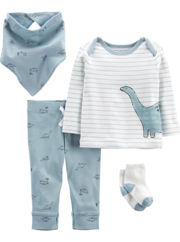 Carter's 4tlg. Outfit in Hellblau/ Weiß