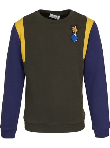 Mini Rebels Sweatshirt kaki/donkerblauw