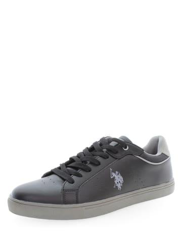 """U.S. Polo Assn. Leder-Sneakers """"Curt 1"""" in Schwarz"""