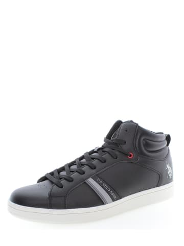 """U.S. Polo Assn. Leder-Sneakers """"Argon"""" in Schwarz"""
