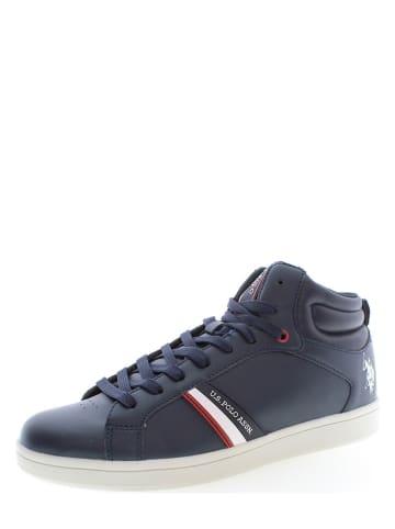 "U.S. Polo Assn. Leder-Sneakers ""Argon"" in Dunkelblau"