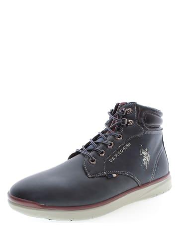 "U.S. Polo Assn. Leder-Sneakers ""Basile"" in Dunkelblau"