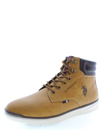 "U.S. Polo Assn. Leder-Sneakers ""Basile"" in Hellbraun"
