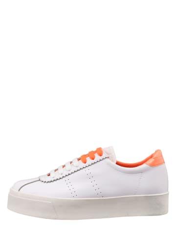 "Superga Leren sneakers ""Leaw"" wit"