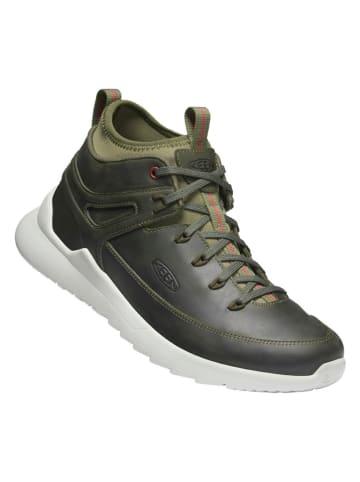 """Keen Leren sneakers """"Highland"""" groen"""