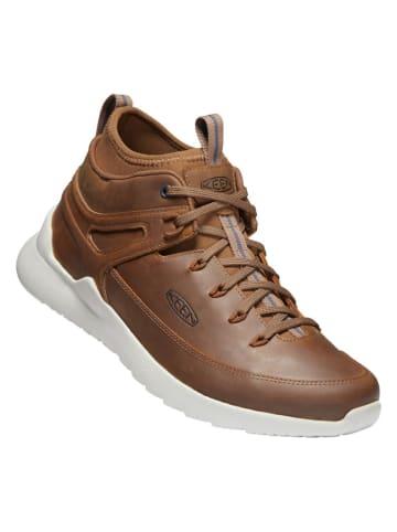 """Keen Leren sneakers """"Highland"""" bruin"""