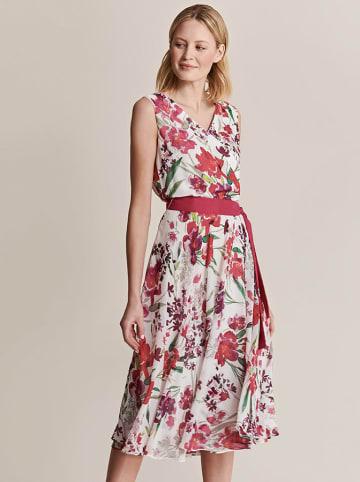 TATUUM Sukienka w kolorze biało-różowym ze wzorem