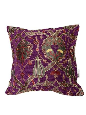 """Ottoman Kissenhülle """"Violeta"""" in Violett - (L)60 x (B)60 cm"""