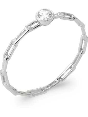 Lucette Zilveren ring met zirkonia