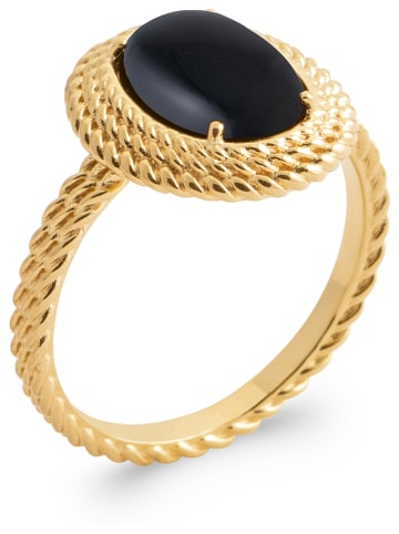 Lucette Vergulde ring met edelsteen