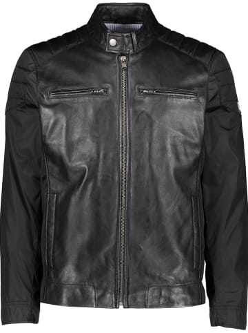 Otto Kern Leren jas zwart
