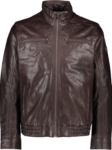 Otto Kern Skórzana kurtka w kolorze brązowym