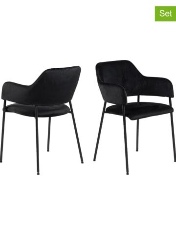"""AC Design Krzesła (2 szt.) """"Lima"""" w kolorze czarnym - 54 x 82 x 54 cm"""