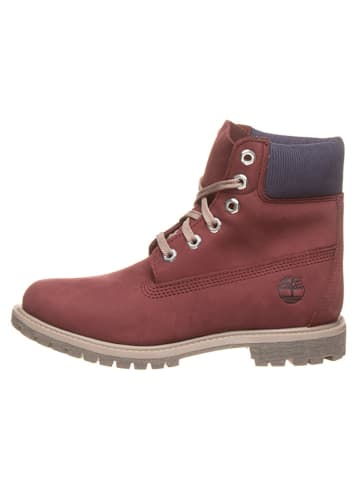 """Timberland Leder-Boots """"6in Premium"""" in Bordeaux - Weite W"""