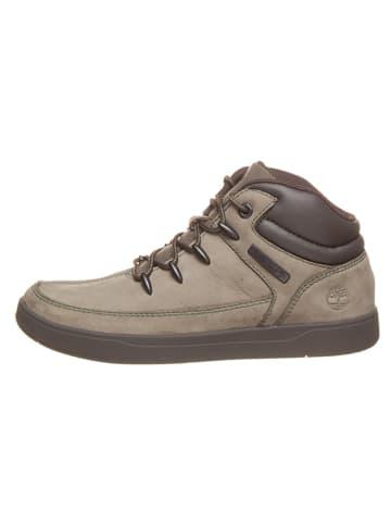"""Timberland Skórzane sneakersy """"Davis Square Eurosprint"""" w kolorze oliwkowym"""