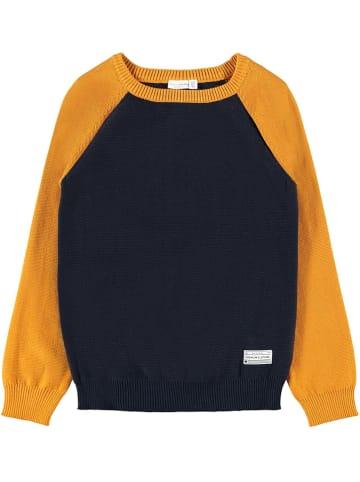 """Name it Sweter """"Vusper"""" w kolorze pomarańczowo-granatowym"""
