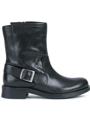 "Geox Leder-Boots ""Rawelle"" in Schwarz"