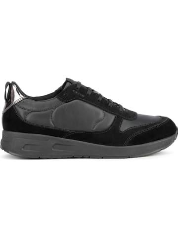 """Geox Skórzane sneakersy """"Bulmya"""" w kolorze czarnym"""