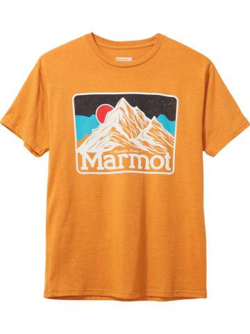 "Marmot Funktionsshirt ""Mountain Peaks"" in Orange"