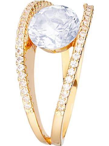 LES PIERRES Vergulde ring met edelstenen