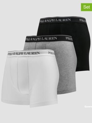 POLO RALPH LAUREN Bokserki (3 pary) w kolorze białym, czarnym i jasnoszarym