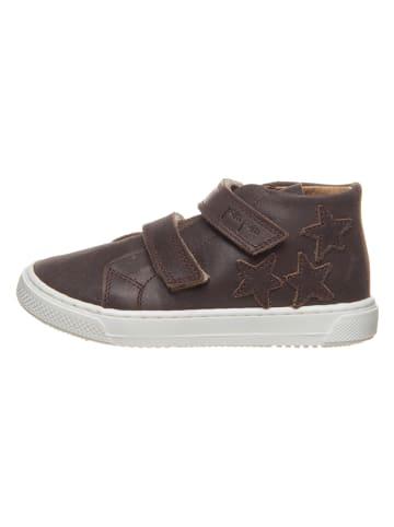 POM POM Leren sneakers bruin