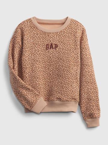 GAP Bluza w kolorze beżowo-jasnobrązowym