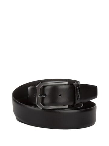Calvin Klein Skórzany pasek w kolorze czarnym