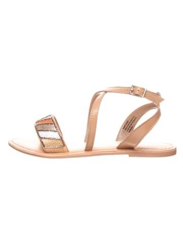 Cinque Leren sandalen beige/meerkleurig