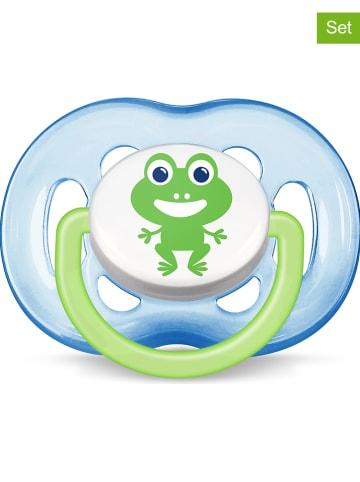 """Philips Avent 2-delige spenenset """"Freeflow"""" blauw/groen - maat 2"""