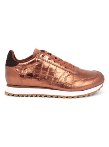 "WODEN Leder-Sneakers ""Ydun Croco Shiny"" in Braun"