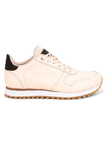 "WODEN Leder-Sneakers ""Ydun Croco Shiny"" in Weiß"