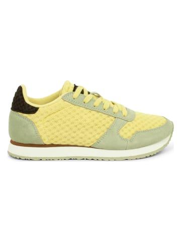 """WODEN Sneakersy """"Ydun Suede Mesh II"""" w kolorze żółto-zielonym"""
