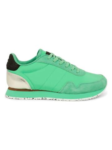 """WODEN Sneakersy """"Nora III"""" w kolorze zielonym"""