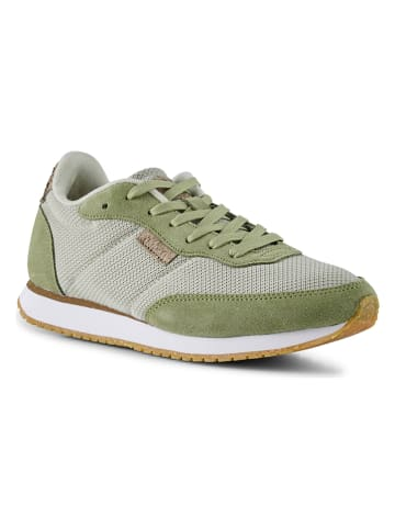 """WODEN Sneakersy """"Signe"""" w kolorze szaro-zielonym"""