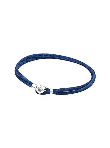 Pandora Bransoletka w kolorze niebieskim ze srebrnymi elementami