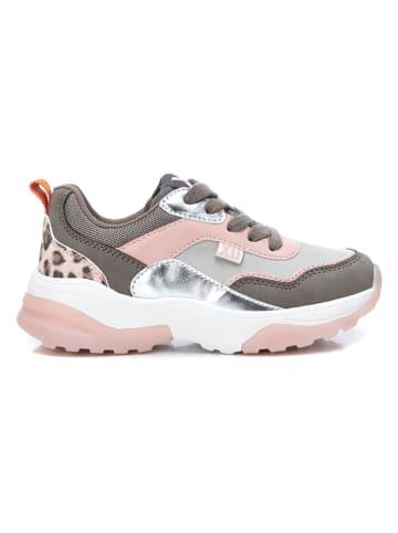 XTI Kids Sneakers in Grau/ Rosa