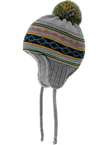 Döll Dzianinowa czapka w kolorze szarym ze wzorem