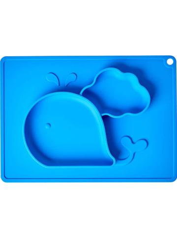 Rice Siliconen placemat blauw - (L)28 x (B)20 cm