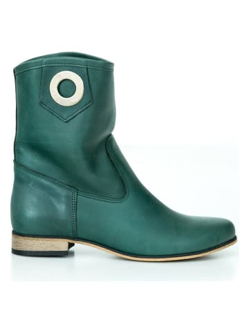 Zapato Leder-Boots in Grün
