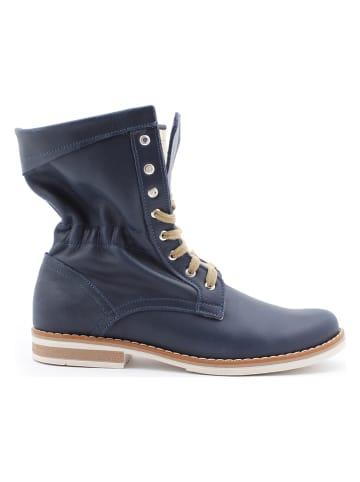Zapato Leder-Boots in Dunkelblau