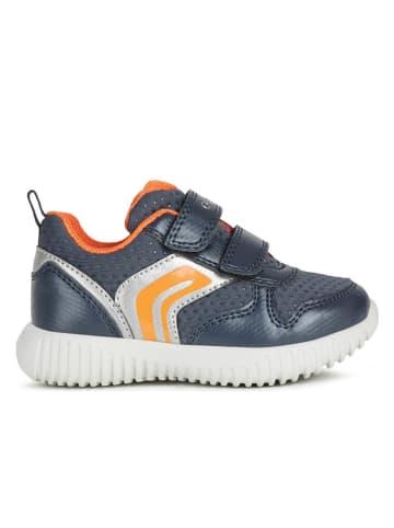 Geox Sneakers blauw/oranje