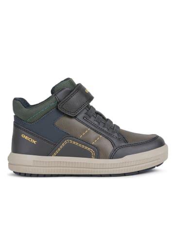 Geox Sneaker in Braun/ Dunkelblau/ Grün