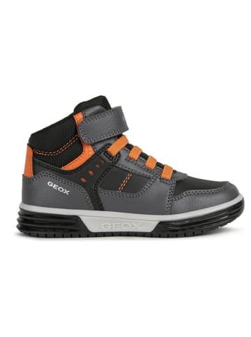 Geox Sneakersy w kolorze szaro-pomarańczowym