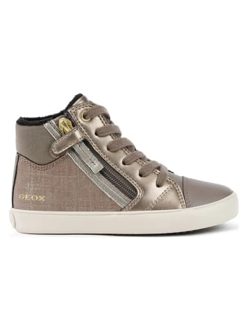 Geox Sneakersy w kolorze złotym