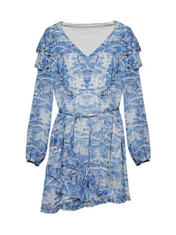 Patrizia Pepe Sukienka w kolorze błękitnym ze wzorem