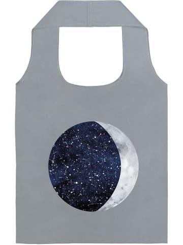 "Moses. Shopper ""Mond und Sterne"" in Grau - (B)44 x (H)66 cm"