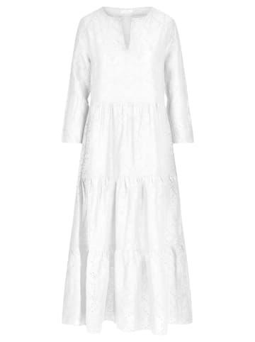Mint & mia Lniana sukienka w kolorze białym