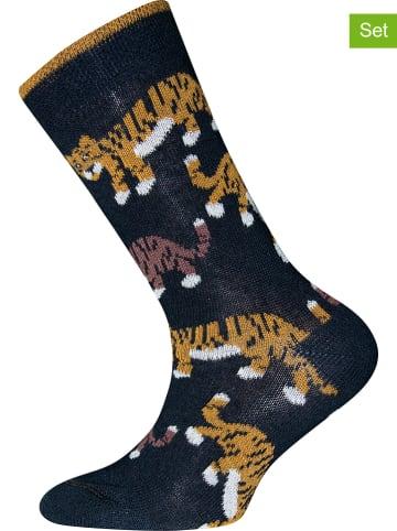 """Ewers 2-delige set: sokken """"Tijger"""" donkerblauw"""