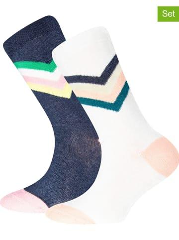 """Ewers 4-delige set: sokken """"Zigzag"""" donkerblauw/wit"""